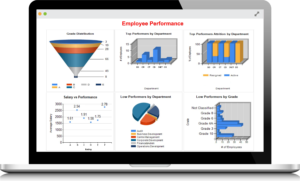 HRiQ Executive Dashboard conveys rich human resource data and analytics