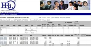 HRiQ Time and Attendance Tracking, Absence Management