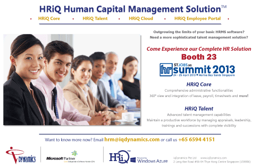 iqDynamics at HR Summit 2013