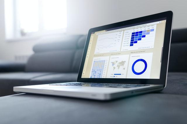 laptop screen showing HR trends